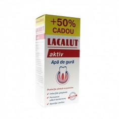 Apa de gura Lacalut Aktiv Antiplaque, 450 ml