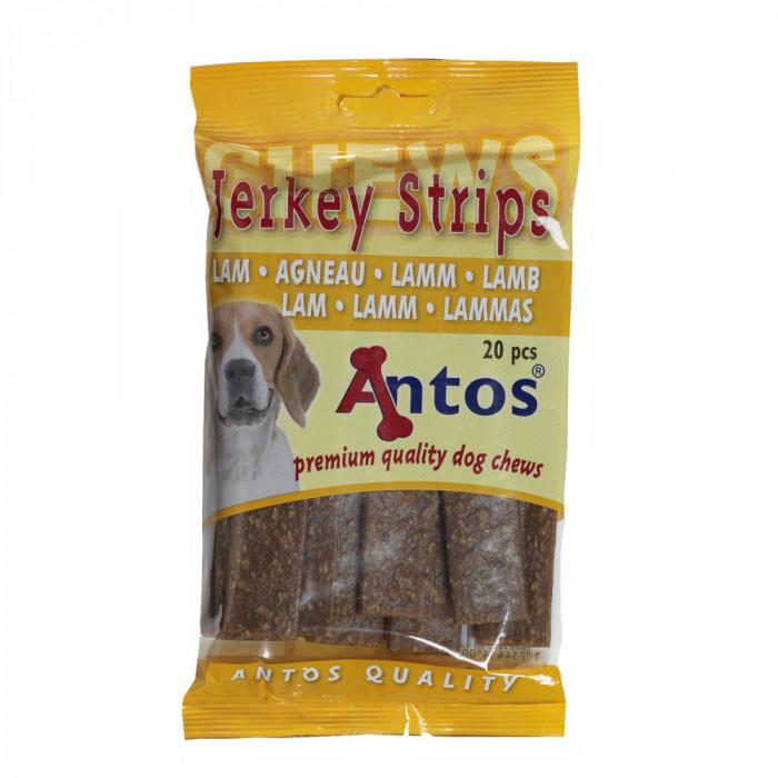 Recompense pentru caini Antos, Fasii, Miel, 20 buc, 200 g