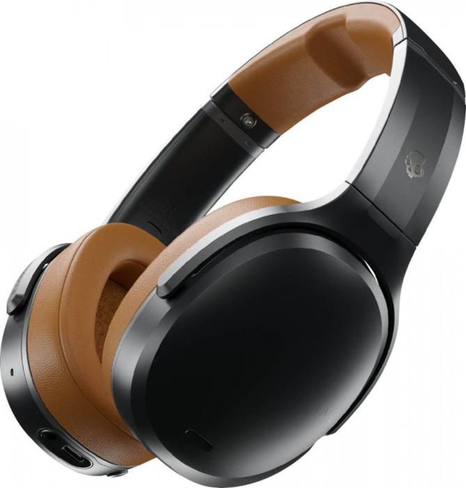 Casti On-Ear SKULLCANDY Crusher ANC, Wireless, Black Tan