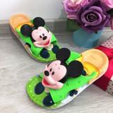 Cumpara ieftin Papuci verzi de vara cu Mickey pentru copii baieti 27 28