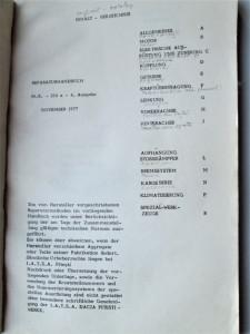 Manual de Reparatii, in Germana: Reparaturhandbuch MR 150 Dacia 1300. 1977