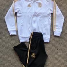 Trening cu pantaloni conici pentru copii REAL MADRID 7-15 ani model 2019-2020