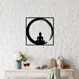 Decoratiune pentru perete, Ocean, metal 100 procente, 50 x 50 cm, 874OCN1004, Negru