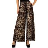 Pantaloni evazati, cu imprimeu leopard, Maro, M/L