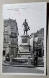 Galati statuia Costache Negri, ilustrata circulata 1940, Printata