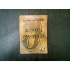 Ordonanta presedentiala - Constantin Crisu