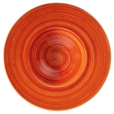 Farfurie pentru paste din portelan -TERRA COTTA 28cm adanca MN0101100 BONNA foto