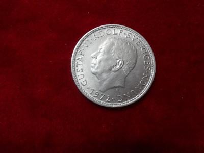 Monede Suedia 5 Kronor 1972 WCC:km846 foto