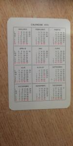 CCO - CALENDARE FOARTE VECHI - ANUL 1973 - NR 8