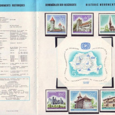 1967 Romania, Monumente istorice LP 650-651, pliant filatelic de prezentare
