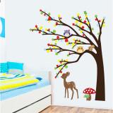 Sticker de perete camera copilului Caprioara in padure