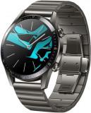 Smartwatch Huawei Watch GT 2 Elite, Procesor Kirin A1, Display 3D AMOLED HD 1.39inch, 32MB RAM, 4GB Flash, Bluetooth, GPS, Carcasa Otel, Bratara Metal