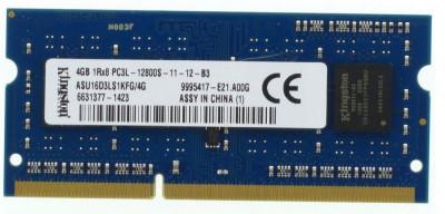 Memorie Sodimm Kingston 4Gb DDR3 1600Mhz PC3L-12800S,1.35V, asu16d3ls1kfg/4g foto