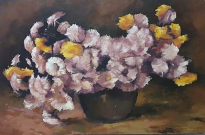 tablou pictura -flori foto