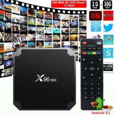 Mini TV Box X96 Android 8.1 Wifi Quad Core 2 Gb +16 Gb Rom Quad Core 64 Bit