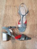 LICHIDARE STOC! Sandale dama noi piele intoarsa foarte comode si usoare 36,5/37