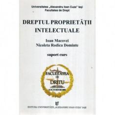 Dreptul proprietatii intelectuale - Suport curs - Anul III - Semestrul I