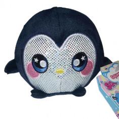 Jucarie Squishy Pufoasa din Plus cu Revenire Lenta Pinguinul Marvin 9 cm