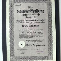 Titlu De Stat Obligatiune Germania-1940-1000-Reichsmark