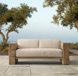 Canapea pentru gradina, 170 x 70 x 65 cm, lemn masiv