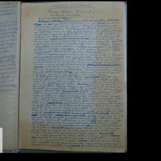 Manuscris/ Articol scris si semnat de Al Piru - 4 pag