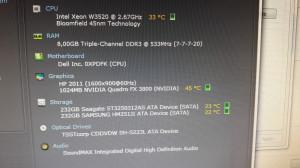 PC Octa Xeon i7 8gb FX 3800 256bit unitate pc gaming T3500 1366 w3520