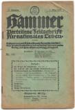 Revista antisemita proto nazista Hammer 1 martie 1918 nr 377