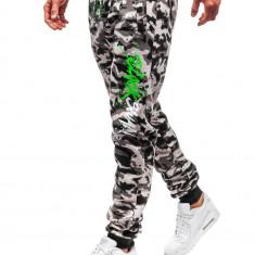 Pantaloni de trening bărbați camuflaj-gri Bolf 55093