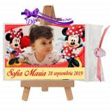 Marturii botez magneti Handmade by Diana Puiu Minnie Mouse MDFM 20