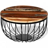 VidaXL Măsuță de cafea, lemn masiv reciclat
