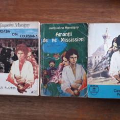 Amantii de pe Mississippi + alte 2 carti de Jacqueline Monsigny / R8P3S