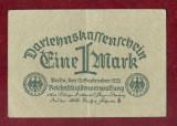 Bancnota Germania  - EINE MARK - UNA MARCA - 1 MARK 1922