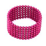 Cumpara ieftin Neocube 216 bile magnetice 5mm, joc puzzle, culoare roz