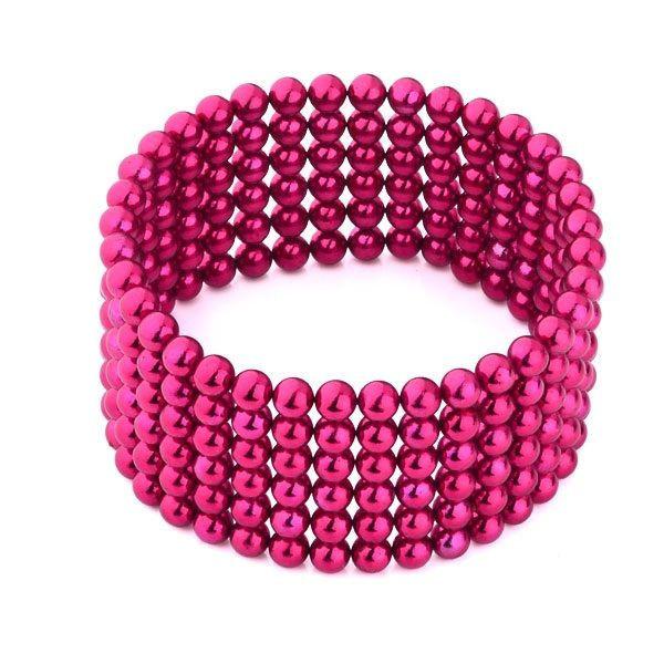 Neocube 216 bile magnetice 5mm, joc puzzle, culoare roz