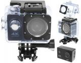 "Camera video sport profesionala 4K Ultra HD, 2""CMOS, Wi-Fi, rezistenta la apa, card 32 GB, culoare negru"