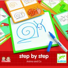 Deseneaza pas cu pas animale Djeco