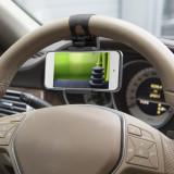 Suport telefon pt. volan - negru Best CarHome, MNC
