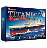 Puzzle 3D - Nava Mare Titanic, 113 piese, CubicFun