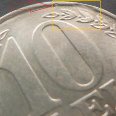 Moneda 10 LEI - ROMANIA, anul 1992   *cod 4242 - ERORI BATERE