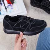 Pantofi sport Piele Aiela negri -rl