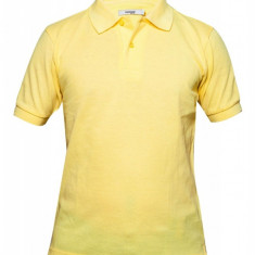 Tricou polo Dressmann, bumbac 100%, galben, pentru barbati