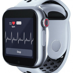 Ceas Smartwatch cu telefon iUni Z6S, Touchscreen, Bluetooth, Notificari, Camera, Pedometru, White