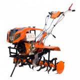 Motocultor Ruris 915K 15 CP 450 CC + Roti cauciuc + Rarita Portocaliu