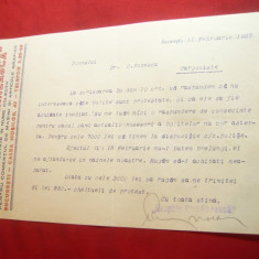 Adresa cu Antet Graphia Romaneasca 1937- Soc.pt.Comert Masini si Art.Grafice