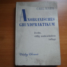 Anorganisches grundpraktikum – Carl Mahr