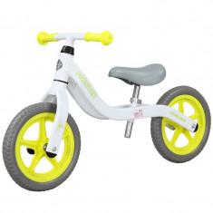 Bicicleta fara pedale (pedagogica) FIVE Libra scaun reglabil Alb Galben