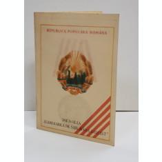 BREVET DE DECORARE CU MEDALIA ' ELIBERAREA DE SUB JUGUL FASCIST ' , 1949