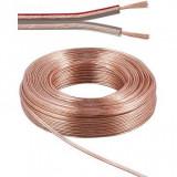 Cablu pentru boxe transparent 2x2.5mm 10m, Oem