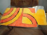 Set de baie: covoras baie 90x55 cm si covoras WC 55x45 cm, multicolor, NOI
