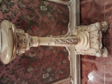 Piedestal baroc venetian,Silik,Italia,lemn masiv,onix,vintage